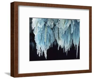 Finland, Gulf of Bothnia, Icicles Hang from a Ice-Breaker-Brimberg & Coulson-Framed Photographic Print