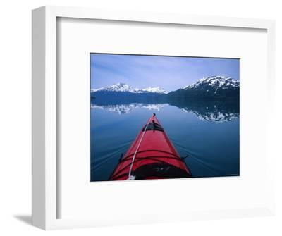 Exploring in a Sea Kayak a Calm Bay Off the Prince William Sound, Alaska-Bill Hatcher-Framed Photographic Print
