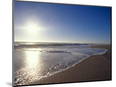 Gentle Waves Lap Onto a Pristine Sandy Beach with the Sun Reflecting, Australia-Jason Edwards-Mounted Photographic Print