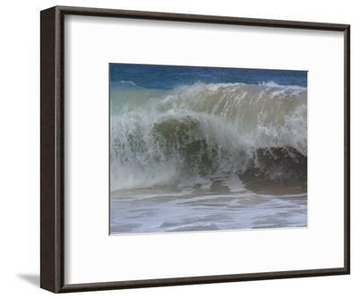 Huge Waves Break near the Shore, Hawaii-Stacy Gold-Framed Photographic Print