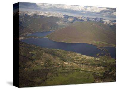 Grand Lake and Lake Granby Are West of Rocky Mountain National Park, Colorado-Michael S^ Lewis-Stretched Canvas Print