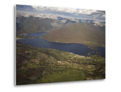 Grand Lake and Lake Granby Are West of Rocky Mountain National Park, Colorado-Michael S^ Lewis-Metal Print