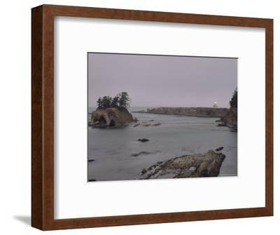Distant View of the Cape Arago Lighthouse, Oregon-Phil Schermeister-Framed Photographic Print