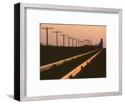 Railway Tracks at Sunset, Kansas-Brimberg & Coulson-Framed Photographic Print