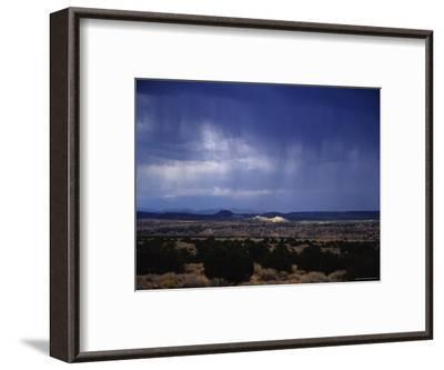 Rain Pores Down on the Desert Landscape in New Mexico-Stacy Gold-Framed Photographic Print