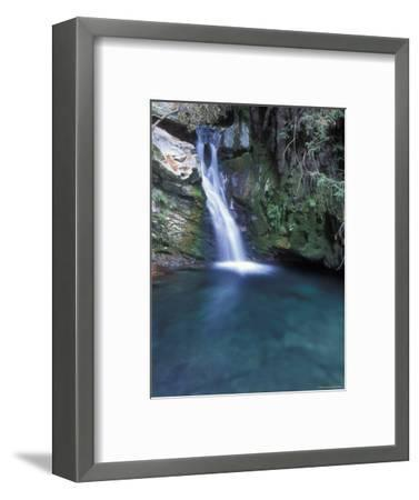 Pico Blanca Falls in Los Padres National Forest, California-Rich Reid-Framed Photographic Print
