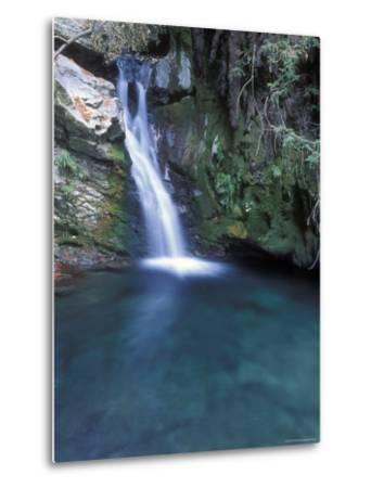 Pico Blanca Falls in Los Padres National Forest, California-Rich Reid-Metal Print