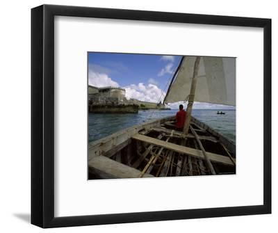 Sailing Around Fort Sebastian, Mozambique-James L^ Stanfield-Framed Photographic Print