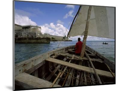 Sailing Around Fort Sebastian, Mozambique-James L^ Stanfield-Mounted Photographic Print