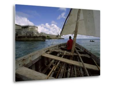 Sailing Around Fort Sebastian, Mozambique-James L^ Stanfield-Metal Print