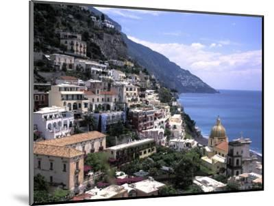 The Beach and City of Positino on the Amalfi Coast in Italy-Richard Nowitz-Mounted Photographic Print