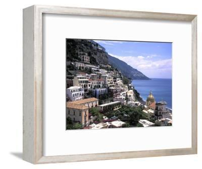 The Beach and City of Positino on the Amalfi Coast in Italy-Richard Nowitz-Framed Photographic Print