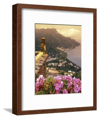 Sea and Flowers from Hotel Polumbo in Ravello, Italy-Richard Nowitz-Framed Photographic Print