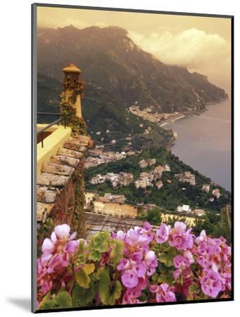Sea and Flowers from Hotel Polumbo in Ravello, Italy-Richard Nowitz-Mounted Photographic Print