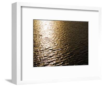 The Sun Reflects Off Rippling Water, Alaska-Stacy Gold-Framed Photographic Print