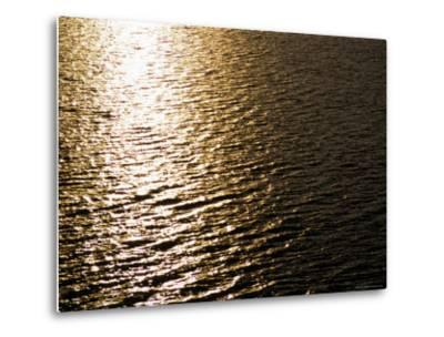 The Sun Reflects Off Rippling Water, Alaska-Stacy Gold-Metal Print