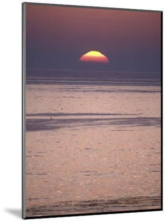 Sun Setting over the Pacific Ocean, California-Rich Reid-Mounted Photographic Print