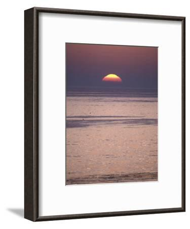 Sun Setting over the Pacific Ocean, California-Rich Reid-Framed Photographic Print