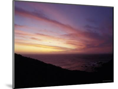 Sunset Reflects Off a Cloud Band Passing over a Rugged Coastline, Australia-Jason Edwards-Mounted Photographic Print