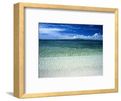 Secluded White Sands Beach on a Tropical Island with Blue Sky, Clouds-James Forte-Framed Photographic Print