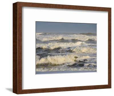Storm Waves Pound the Shore-Skip Brown-Framed Photographic Print