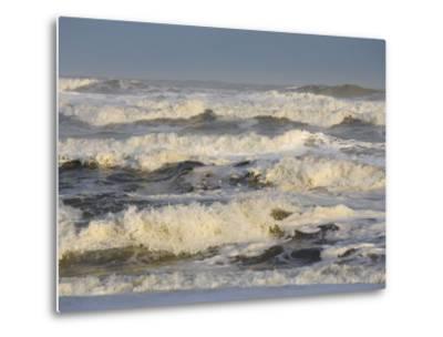 Storm Waves Pound the Shore-Skip Brown-Metal Print