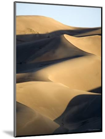 Sand Dunes at Sunset, Colorado-Michael S^ Lewis-Mounted Photographic Print