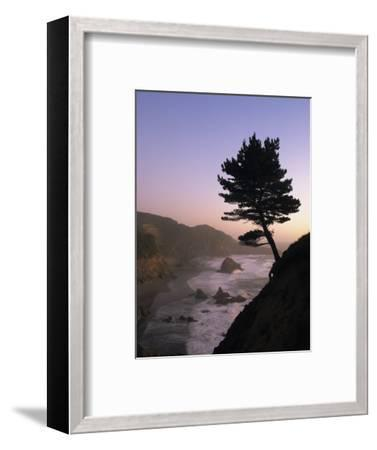 Scenic View of the Oregon Coast at Twilight-Phil Schermeister-Framed Photographic Print