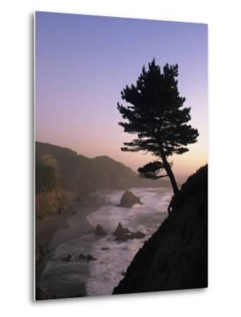 Scenic View of the Oregon Coast at Twilight-Phil Schermeister-Metal Print