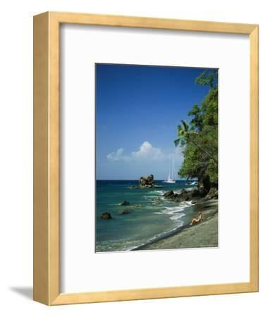 Sunbathing on the Beach in St. Lucia-Anne Keiser-Framed Photographic Print