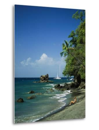 Sunbathing on the Beach in St. Lucia-Anne Keiser-Metal Print