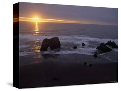 Sunset near Westport, California-Phil Schermeister-Stretched Canvas Print