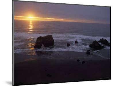 Sunset near Westport, California-Phil Schermeister-Mounted Photographic Print