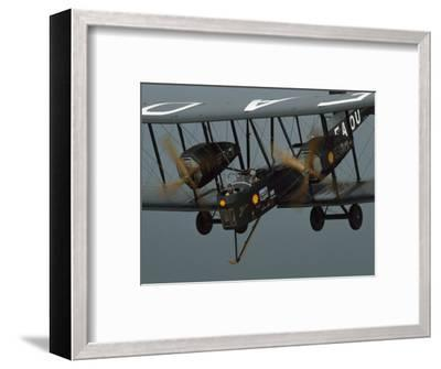 The Vimy in the Air near Sydney, Australia-James L^ Stanfield-Framed Photographic Print