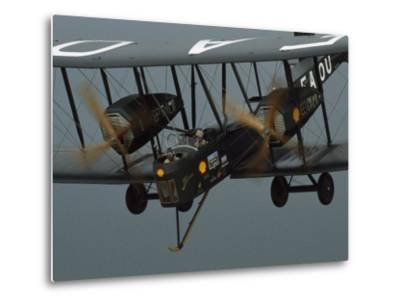 The Vimy in the Air near Sydney, Australia-James L^ Stanfield-Metal Print