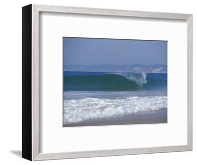 Waves Break on a Pristine Sandy Beach with Cliffs in the Background, Australia-Jason Edwards-Framed Photographic Print