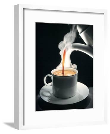 Coffee Being Poured into a Cup-J?rgen Klemme-Framed Premium Photographic Print