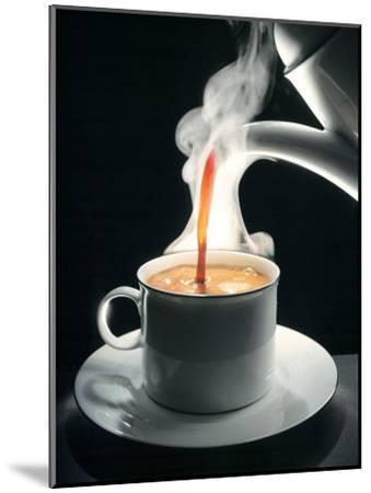 Coffee Being Poured into a Cup-J?rgen Klemme-Mounted Premium Photographic Print