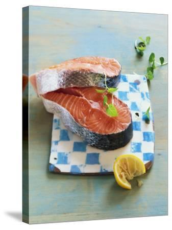 Two Salmon Cutlets-Matthias Hoffmann-Stretched Canvas Print