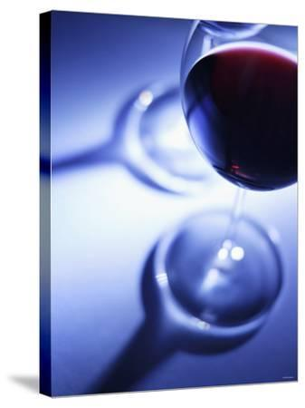 A Glass of Red Wine-Joerg Lehmann-Stretched Canvas Print