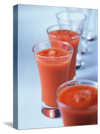 Gazpacho in Small Glasses-Ian Batchelor-Stretched Canvas Print