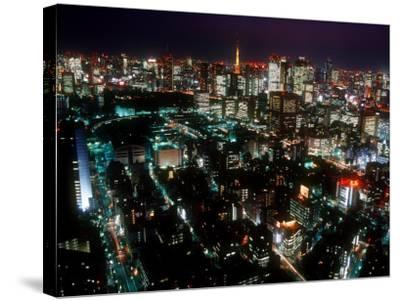 Night View of Tokyo Tower--Stretched Canvas Print