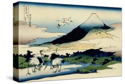 36 Views of Mount Fuji, no. 14: Umegawa in Sagami Province-Katsushika Hokusai-Stretched Canvas Print