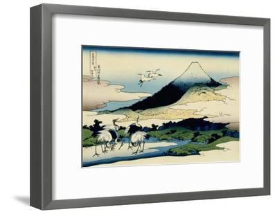 36 Views of Mount Fuji, no. 14: Umegawa in Sagami Province-Katsushika Hokusai-Framed Giclee Print
