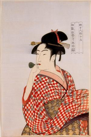 Beauty-Kitagawa Utamaro-Stretched Canvas Print