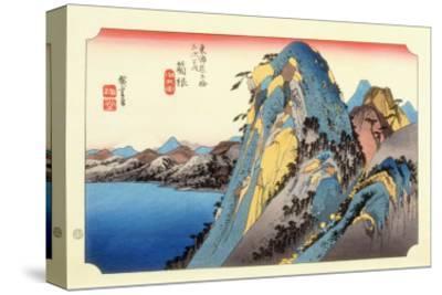 The 53 Stations of the Tokaido, Station 10: Hakone-juku, Kanagawa Prefecture-Ando Hiroshige-Stretched Canvas Print