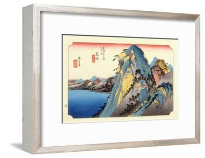 The 53 Stations of the Tokaido, Station 10: Hakone-juku, Kanagawa Prefecture-Ando Hiroshige-Framed Giclee Print