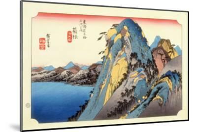 The 53 Stations of the Tokaido, Station 10: Hakone-juku, Kanagawa Prefecture-Ando Hiroshige-Mounted Giclee Print