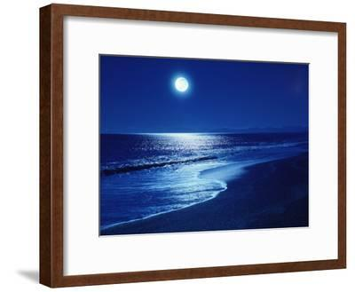 Full Moon Over the Sea--Framed Premium Photographic Print