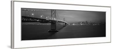 Bay Bridge Lit Up at Night, San Francisco, California, USA--Framed Photographic Print